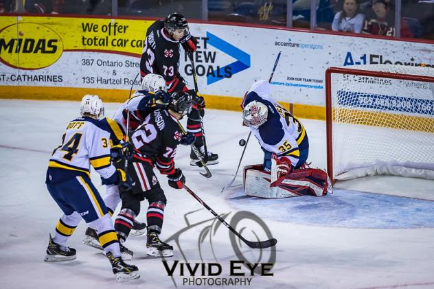 Niagara IceDogs battle the Erie Otters