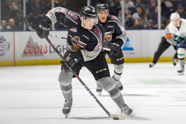 Brayden Watts of the Vancouver Giants against the Seattle Thunderbirds