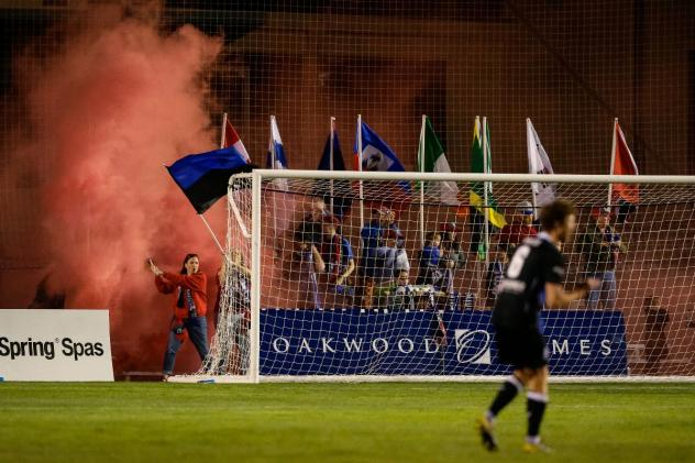 Celebration at the Colorado Springs Switchbacks home opener