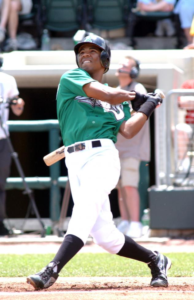 Edwin Encarnacion with the Dayton Dragons