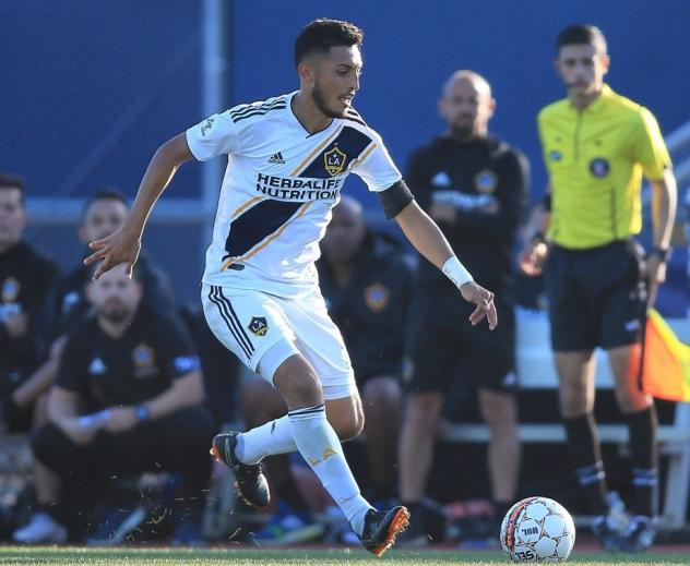 Hugo Arellano with the LA Galaxy
