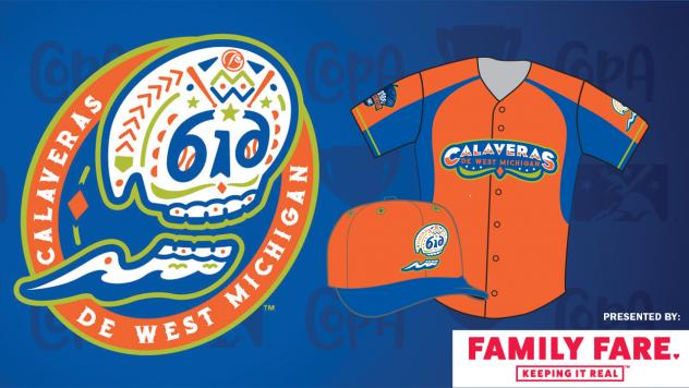 Las Calaveras de West Michigan logo and uniform