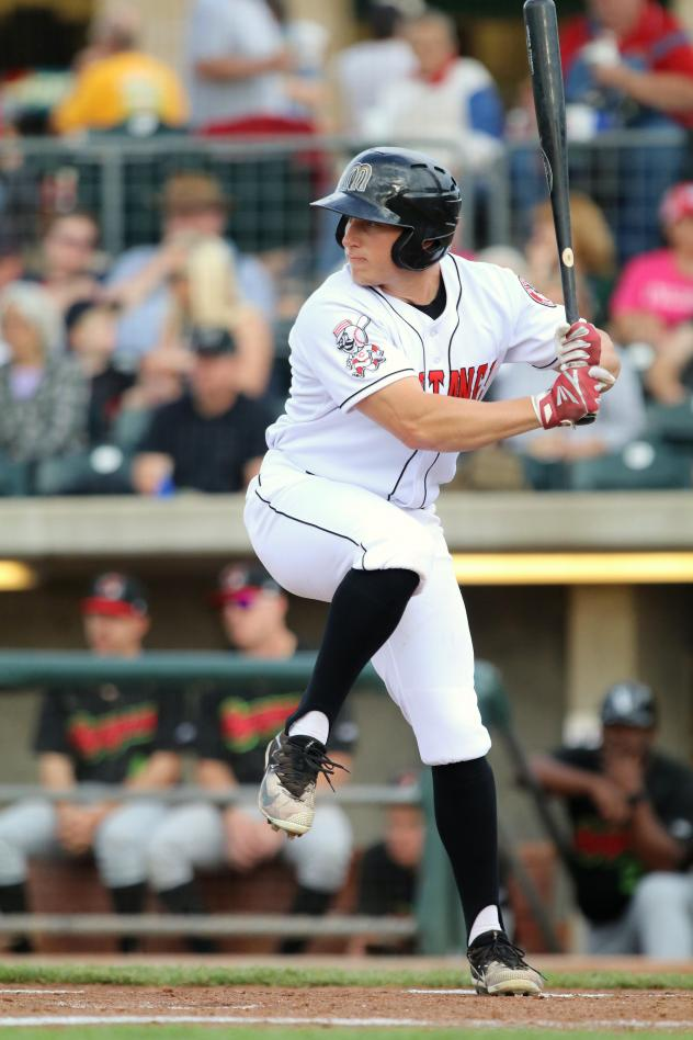 Outfielder Drew Mount with the Billings Mustangs