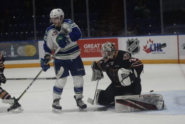 Tanner Nagel with the Swift Current Broncos