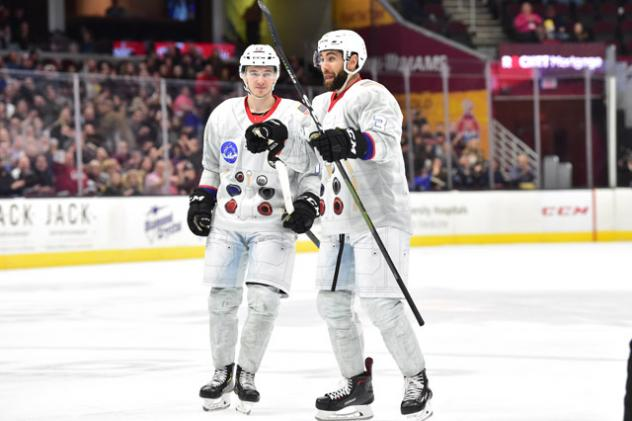 Cleveland Monsters in their Moon Landing uniforms