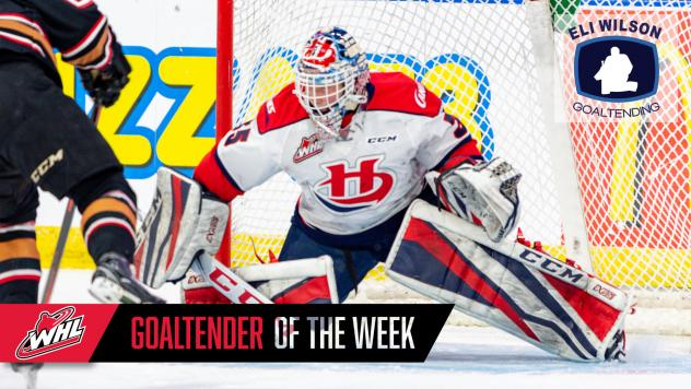Lethbridge Hurricanes goaltender Carl Tetachuk