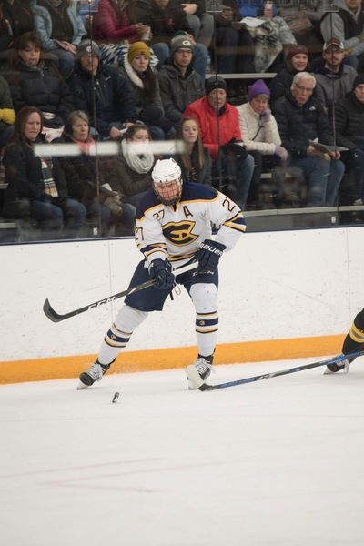 Forward Lucas Kohls with the University of Wisconsin Eau Claire