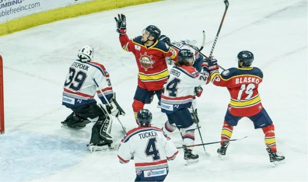 Evansville Thunderbolts clash with the Peoria Rivermen