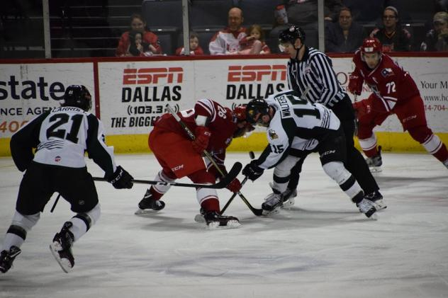 Allen Americans in a face off