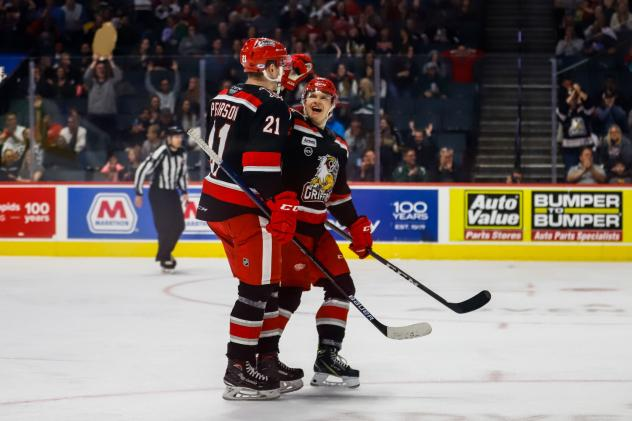 Grand Rapids Griffins exchange congratulations