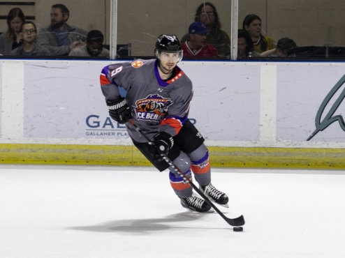 Forward Liam Kerins with the Knoxville Ice Bears