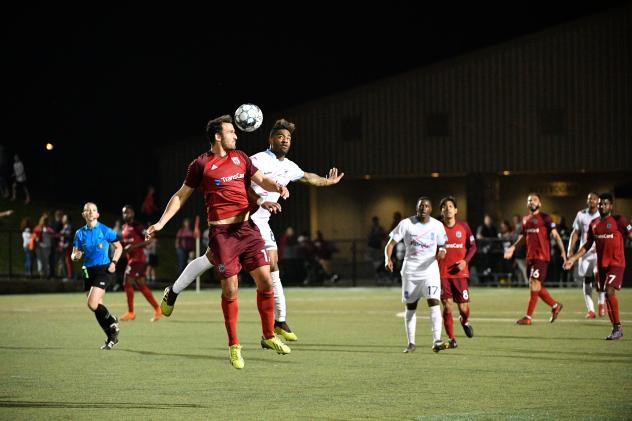 Forward Madison FC (white) vs. the Chattanooga Red Wolves SC
