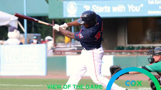 Pawtucket Red Sox at the plate
