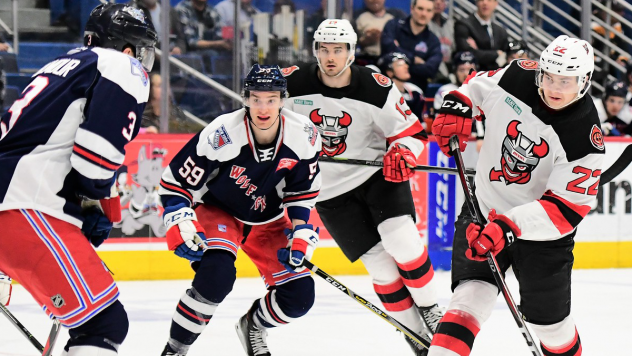 Binghamton Devils battle the Hartford Wolf Pack