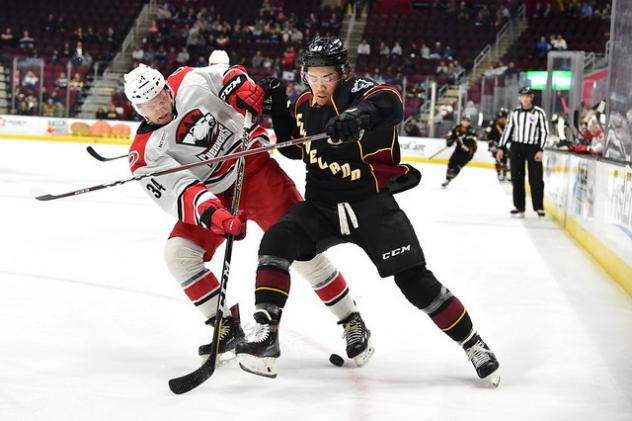 Cleveland Monsters battle the Charlotte Checkers