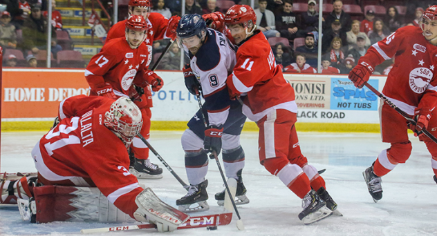 Saginaw Spirit center Brady Gilmour vs. the Soo Greyhounds