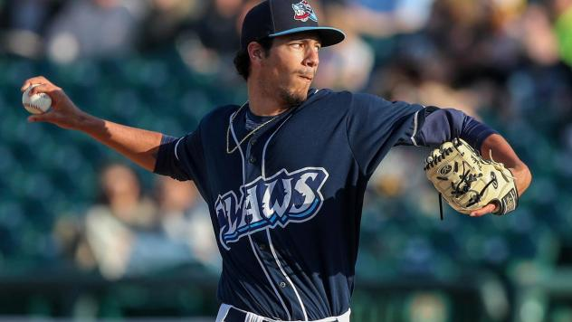 Lakewood BlueClaws on the mound