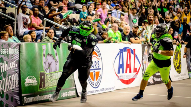 West Virginia Roughriders in American Arena League action