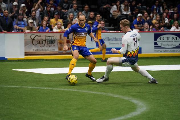 Landon Donovan of the San Diego Sockers vs. the Tacoma Stars