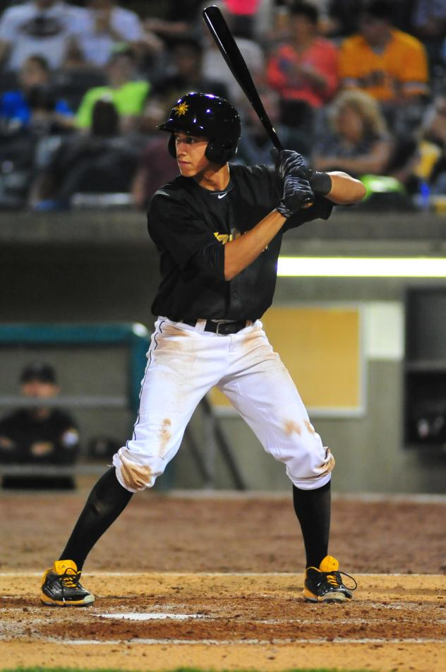 Infielder Cole Tucker with the West Virginia Power