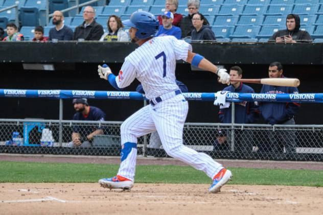Gregor Blanco had two hits and scored two runs for the Syracuse Mets on Sunday afternoon