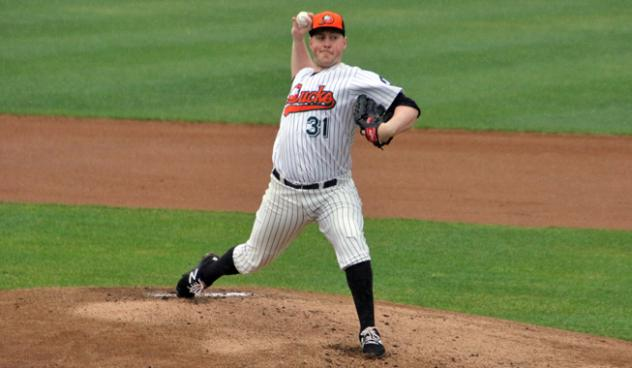 Long Island Ducks pitcher Tim Melville