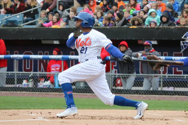 Rajai Davis had two hits, a walk, and scored a run for the Syracuse Mets on Wednesday afternoon