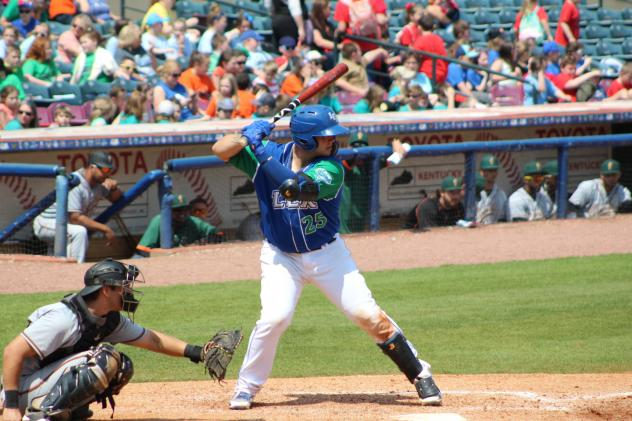 Chase Vallot of the Lexington Legends at bat