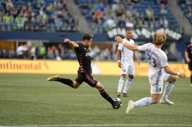 Nico Lodeiro of Seattle Sounders FC recorded his league-leading sixth assist in Wednesday's 2-2 draw with San Jose
