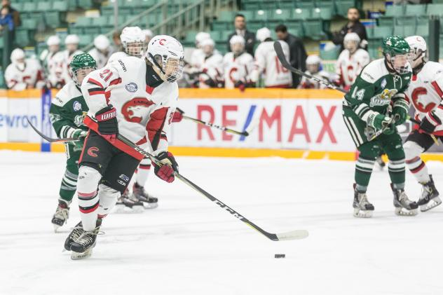 Fischer O'Brien with the Cariboo Cougars