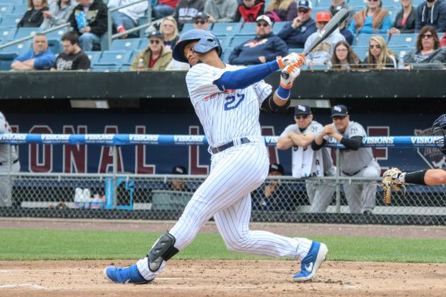 Carlos Gomez had three-hits, including a double and a home run for the Syracuse Mets on Sunday afternoon