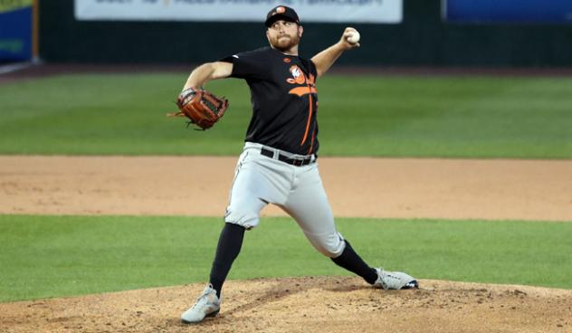 Long Island Ducks pitcher Bennett Parry