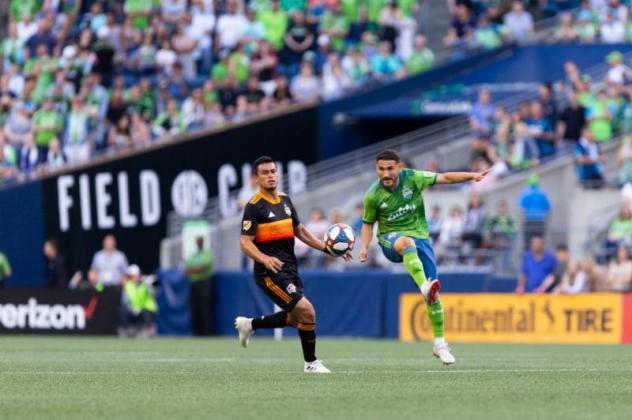 Cristian Roldan of Seattle Sounders FC scored in his second consecutive game on Saturday in a 1-0 win vs. Houston Dynamo
