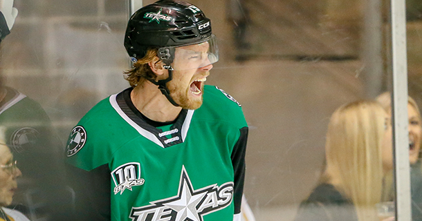 Texas Stars right wing Brad McClure
