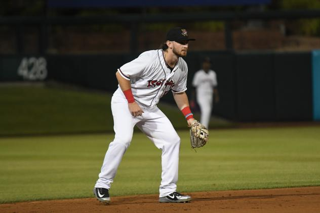 Brendan Rodgers with the Albuquerque Isotopes