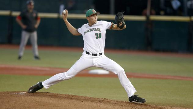Pitcher Cade Smith with Hawaii
