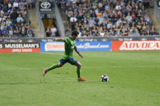Nico Lodeiro of Seattle Sounders FC currently ranks second in MLS with seven assists in 2019