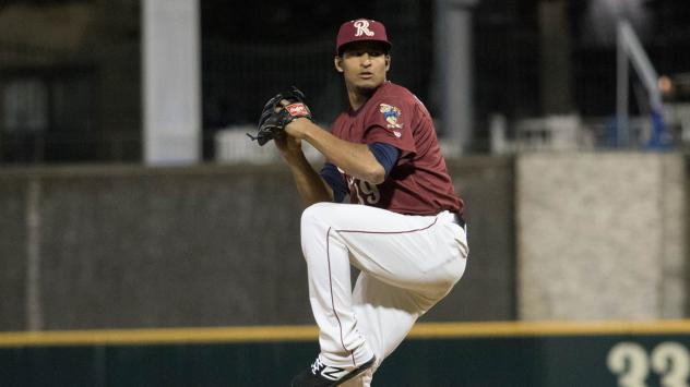 Frisco RoughRiders pitcher Yoel Espinal