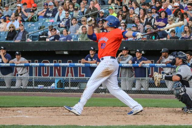 Travis Taijeron of the Syracuse Mets homered for the second straight night on Sunday