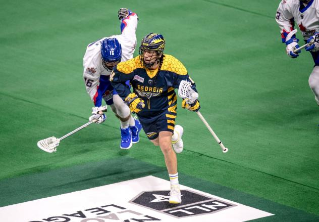 Lyle Thompson on the attach for the Georgia Swarm