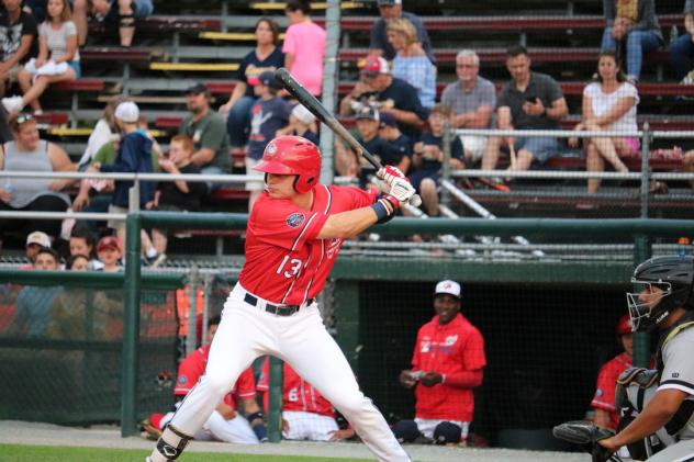 Hagerstown Suns right fielder Jacob Rhinesmith