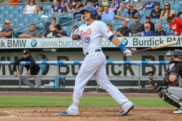 Travis Taijeron had a double, a home run, and two RBIs for the Syracuse Mets on Wednesday night