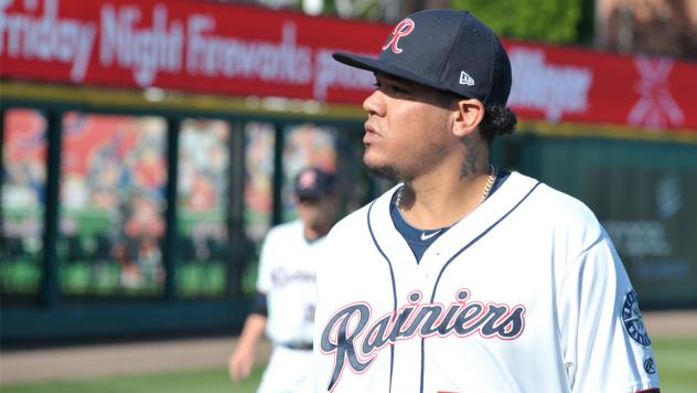 Pitcher Felix Hernandez in his rehab start with the Tacoma Rainiers