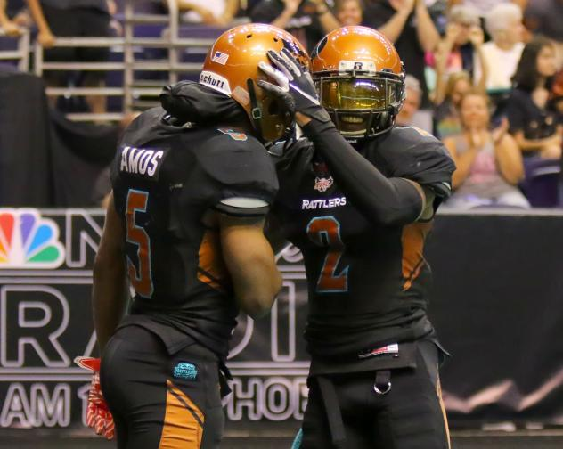 Anthony Amos and Jamal Miles of the Arizona Rattlers vs. the San Diego Strike Force