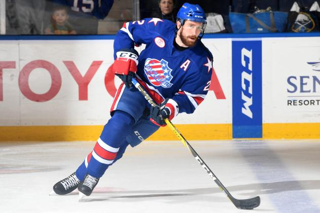 Rochester Americans defenseman Andrew MacWilliam