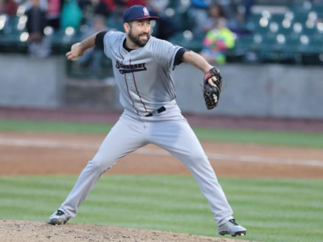 Somerset Patriots pitcher Ryan Kussmaul