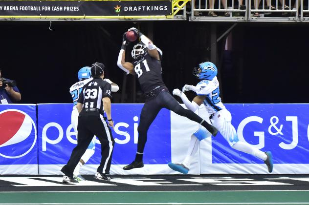 Columbus Destroyers wide receiver Paul Browning hauls in a touchdown vs. the Philadelphia Soul