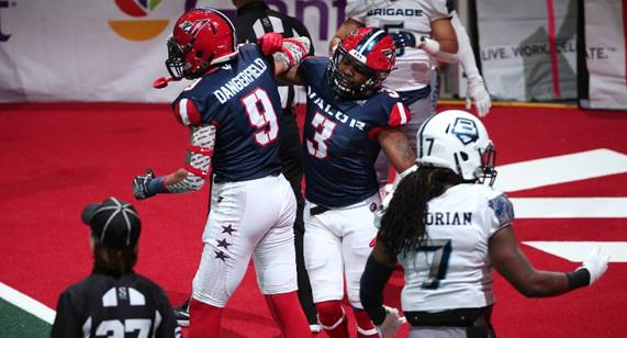 Washington Valor wide receivers Jared Dangerfield and Reggie Gray