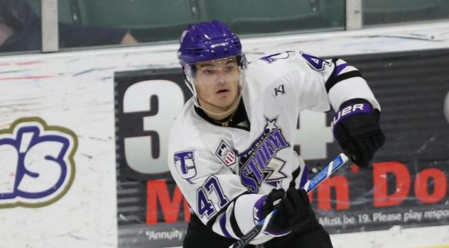 Defenceman Ruben Rafkin with the Tri-City Storm