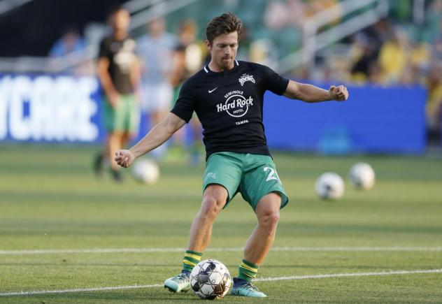 Forward/midfielder Antoine Hoppenot with the Tampa Bay Rowdies